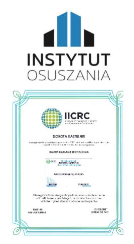 certyfikat po zalaniu Gliwice